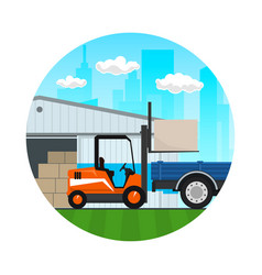 transportation services and storage icon vector image