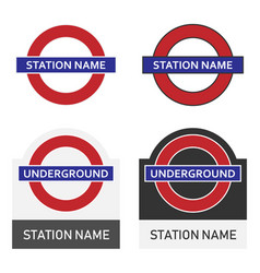 Underground sign in england vector