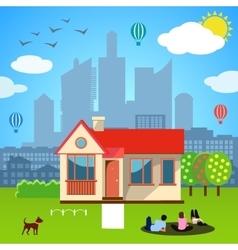 Urban home concept vector image