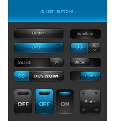 User interface elements - buttons vector