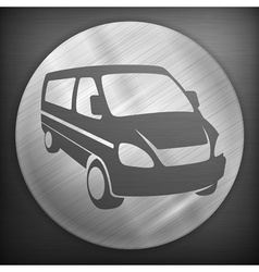 Van round sign vector