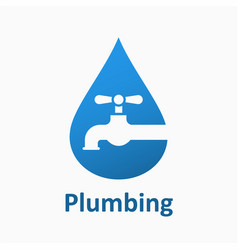 Water pipe faucet icon design logo element vector