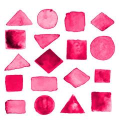 Watercolor geometric design elements15 vector