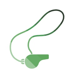Whistle on lace icon vector image vector image