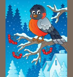 Winter bird theme image 1 vector