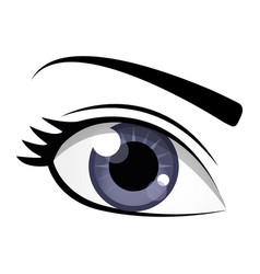 Womans eye icon vector