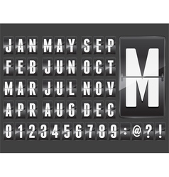 ABC counter month vector image