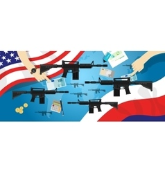 America Russia USA proxy war arms conflict world vector image vector image