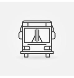 Bus linear icon vector image vector image