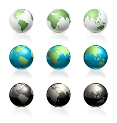 Globes set vector image