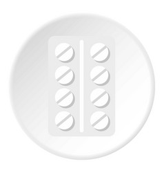 Pack of pills icon circle vector