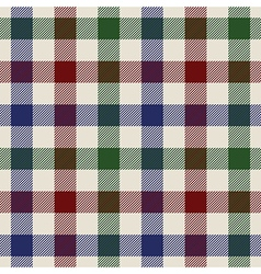 plaid material green red blue fabric in a squares vector image