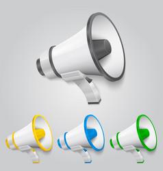 set megaphone color vector image vector image