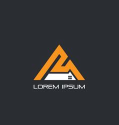 triangle windows business logo vector image