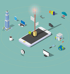 3d building technology electronic devices vector image