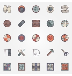 Colorful hand made icons vector image vector image