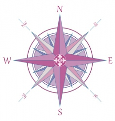 compass with Fleur-de-Lis vector image