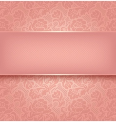floral lace background vector image vector image
