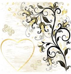 Grungy valentine frame vector image