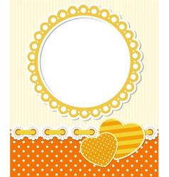 Retro style romantic scrapbook frame vector image vector image