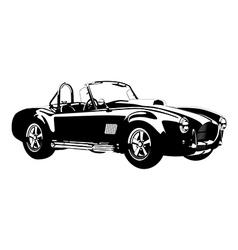 silhouette classic sport car ac cobra roadster vector image vector image