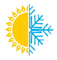 summer winter air conditioning icon4 resize vector image
