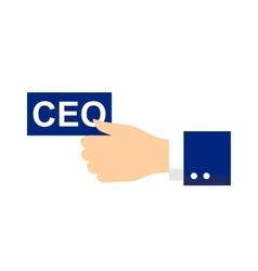 Ceo icon or symbol vector image