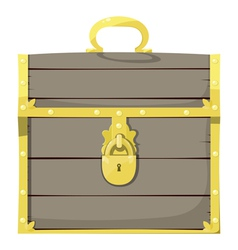 Closed pirate chest vector image vector image