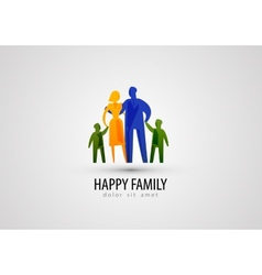 family logo design template parents or people icon vector image