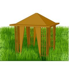 gazebo in the garden vector image