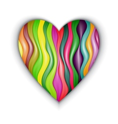 Heart made from color stripes vector