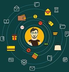 Modern web shopping concept vector image