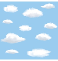 sky with clouds vector image vector image