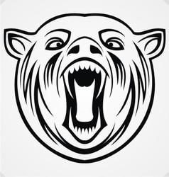 Angry Bear Tribal vector image vector image