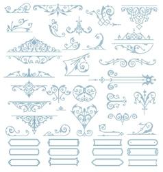 Baroque Ornaments Design Set vector image