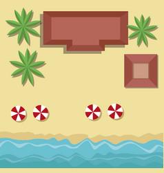 beach top view cartoon vector image vector image