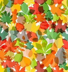 Different color autumn leaves seamless pattern vector image vector image