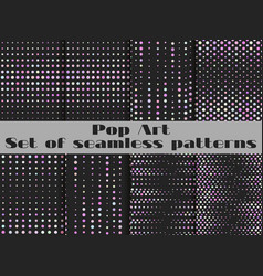 dotted pop art seamless pattern background the vector image