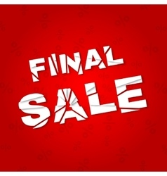 Final sale banner Sale discount vector image vector image