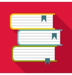 Foreign books icon flat style vector