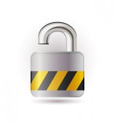 open lock icon vector image vector image