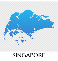 singapore map in asia continent desig vector image