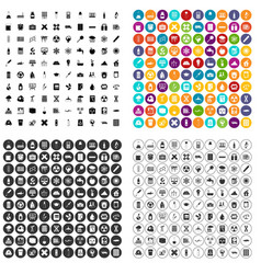 100 chemistry icons set variant vector