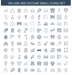 100 small icons vector