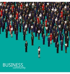 3d isometric of business or politics community vector