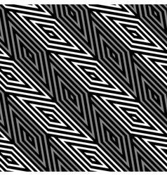 3D Rhombus Spirals Geometric Optical Black and vector image
