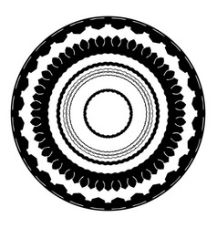 a set of round frames in a monochrome style vector image