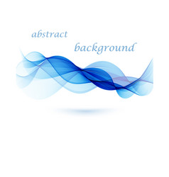 Abstract background blue transparent waved vector