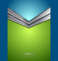 Abstract corporate modern background with arrow vector