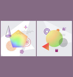 abstraction collection posters vector image